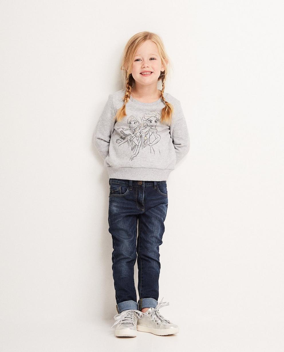 Grauer Sweater - mit Print, Frozen - Mickey